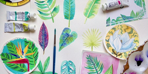 Tropical Watercolour Workshop for adults