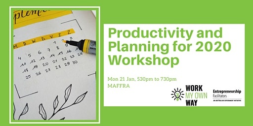 Productivity and Planning for 2020 Workshop