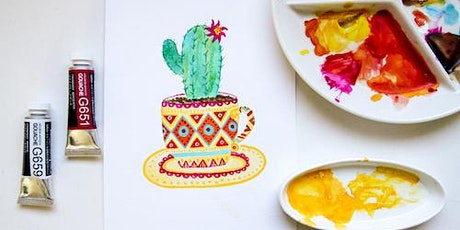 Cacti & Succulents with Watercolour & Gouache - Adult Workshop tickets