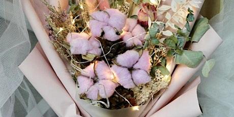 Cotton Flower & Dried Flower Arrangement / Flower Bouquet Wrokshop tickets
