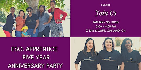 Esq. Apprentice Five Year Anniversary Party tickets
