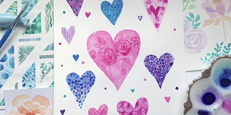 Hearts and Roses: Valentines Watercolour Workshop - Adults tickets