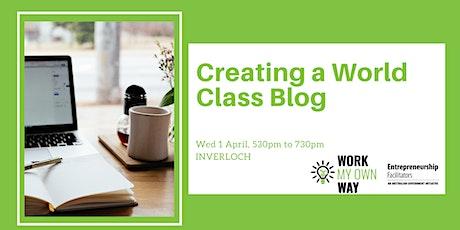Creating a World-class Blog Workshop tickets