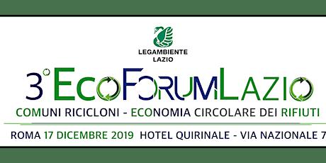 Terzo EcoForum del Lazio biglietti