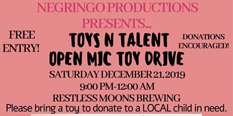 Negringo Productions Presents... Open Mic. A Christmas Story. tickets