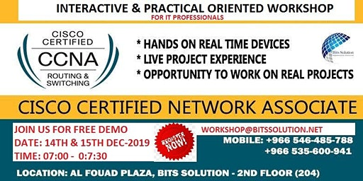 CCNA-Free 2 day interactive DEMO for IT professionals