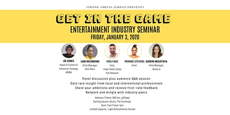 Get In The Game: Entertainment Industry Seminar tickets
