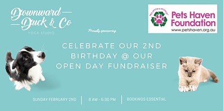 Free Yoga: Open Day Fundraiser for Pet's Haven (animal shelter) at Downward Duck tickets