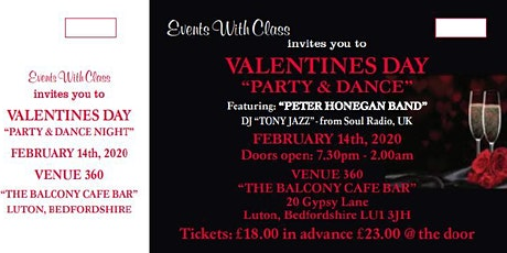 VALENTINE'S DAY 'PARTY & DANCE NIGHT' tickets