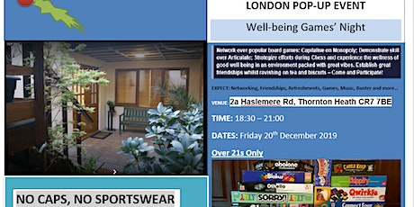 Well-Being Games Night Social (NOW FREE!) tickets