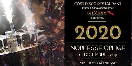 Capodanno 2020 Cost Disco Restaurant biglietti