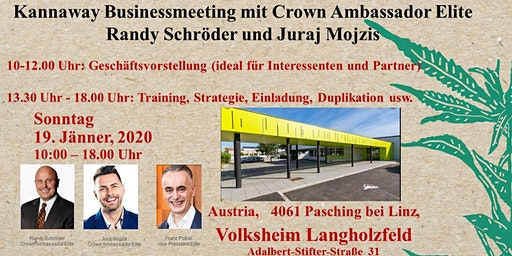 Kannaway Businessmeeting  4061 Pasching Sonntag 19.01.2020
