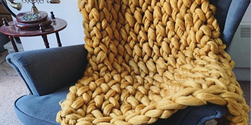 Arm Knit a Chunky Blanket @LOAF BAKEHOUSE