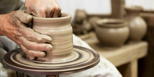 Hand Building Clay on Potter's Wheel Family Event