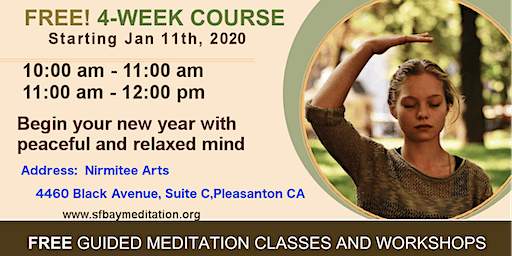 Start your new year with 4 week Meditation course in Pleasanton,CA