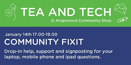 Community Fixit - Laptop, Ipad & mobile phone  assistance and signposting tickets