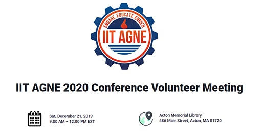 IIT AGNE 2020 Conference Volunteer Meeting
