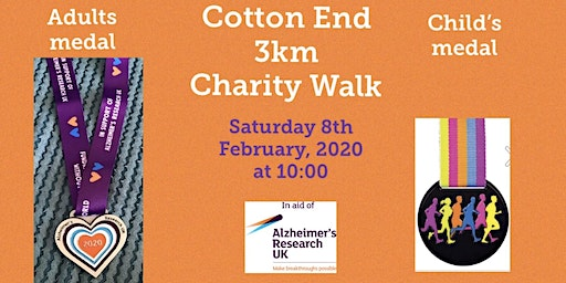 Cotton End 3K Charity Walk in aid of Alzheimer's Research UK