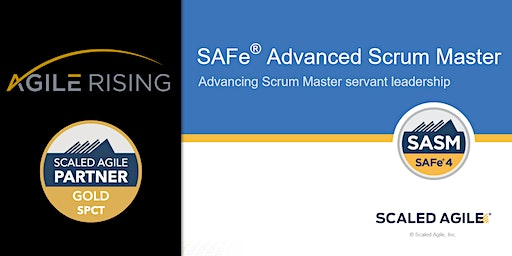 SAFe Advanced Scrum Master with SASM Certification - Pittsburgh Aug 2020