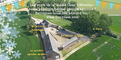 Visite de la Ferme de la Vieille Cour à Nivelles + animation