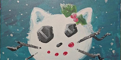 Snow kitty Canvas Class