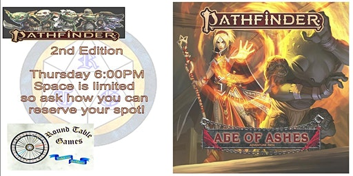 Pathfinder 2.0 Thursday at Round Table Games final of 2020