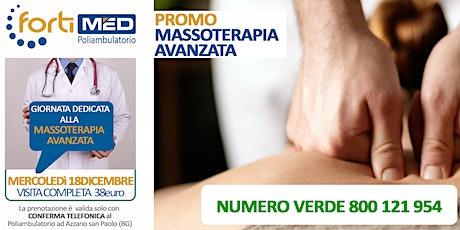 MASSOTERAPIA AVANZATA - VISITA COMPLETA  biglietti