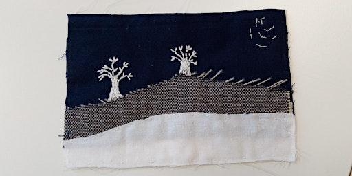Hand Embroidered Festive Landscapes Textile Workshop