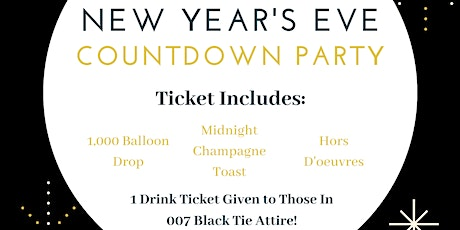 007 New Year's Eve Bash tickets