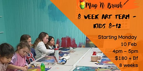 Kids 8 week Art Term 8-12 Mondays tickets