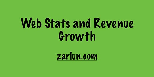 Web Stats and Revenue Growth Madison EB