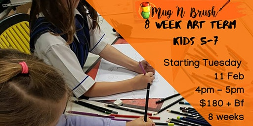 5-7 Year Old Kids 8 week Art Term - Tuesdays
