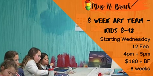 8-12 yrs Kids  8 week Art term - Wednesday