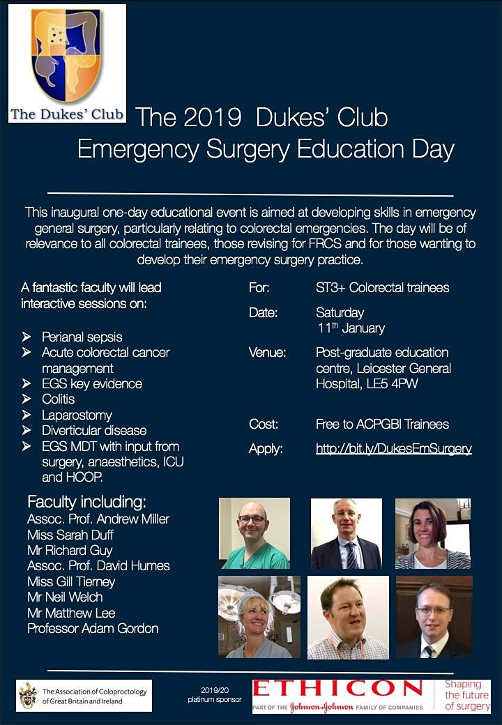 Dukes' Club Emergency Surgery Day image