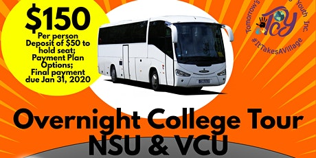 TCYouth Overnight College - NSU/VCU tickets