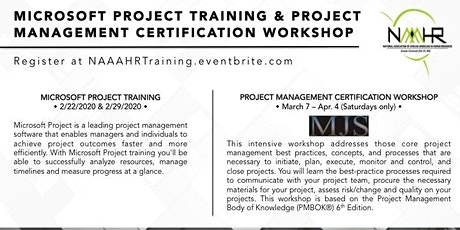 MICROSOFT PROJECT TRAINING & PROJECT MANAGEMENT CERTIFICATION WORKSHOP tickets