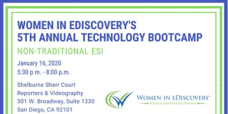Women in eDiscovery Tech Bootcamp - Non-Traditional ESI tickets