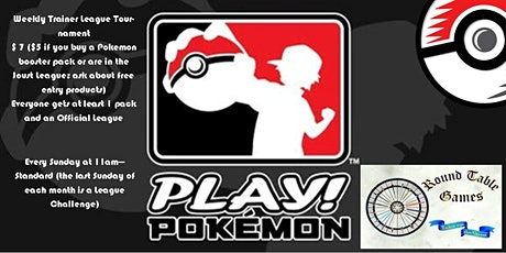 Pokemon Weekly Trainer League Tournament 2020 tickets