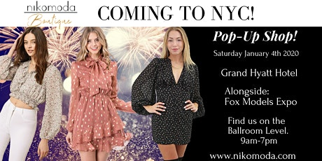 Womens clothing boutique pop-up shop tickets