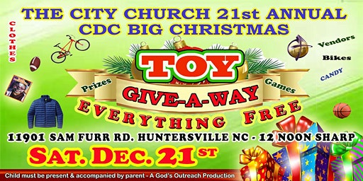 BIG TOY GIVEAWAY FRO CHRISTMAS