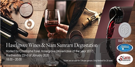 Haselgrove Wines & Siamsamrarn Degustation tickets