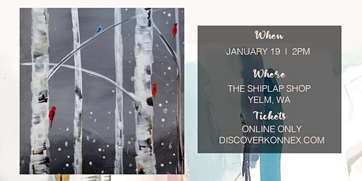 SOLD OUT! Canvas Paint and Sip at The Shiplap Shop