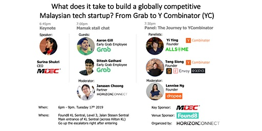Building a globally competitive Malaysian tech startup: From Grab to YC