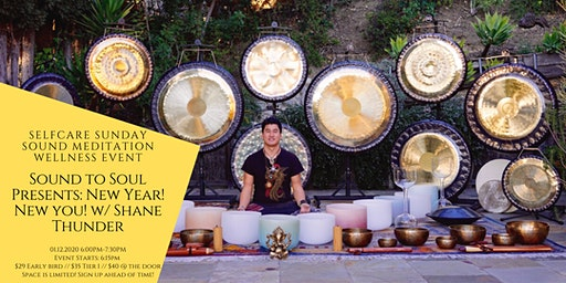 Sound to  Soul: New Year! New You! 432hz Sound Meditation w/ Shane Thunder
