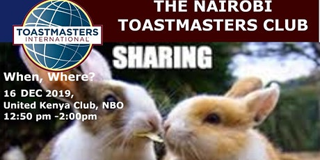 Toastmasters - Sharing is caring tickets