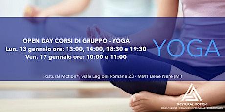 Open Day corsi di gruppo: YOGA biglietti