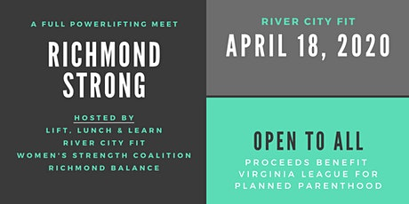 Richmond Strong: A full powerlifting meet open to all! tickets
