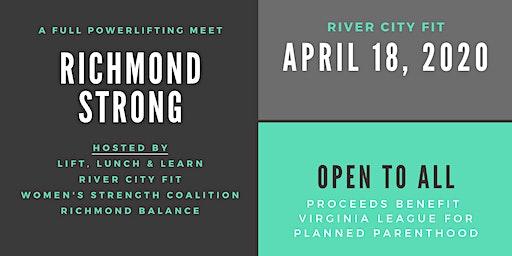 Richmond Strong: A full powerlifting meet open to all!