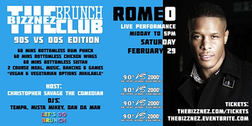 The Bizznez Brunch Club, 90s vs 00s Edition | Saturday Feb 29