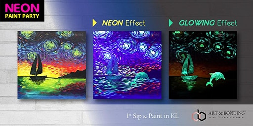 Sip & Paint Night : NEON Paint Party - Neon Sail Away